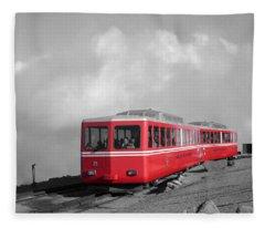 Pikes Peak Train Fleece Blanket