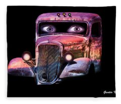 Pin Up Cars - #3 Fleece Blanket