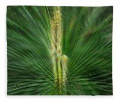 Pine Cone And Needles Fleece Blanket