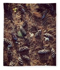 Pine Cones And Patterns Fleece Blanket