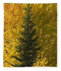 Pine In Aspens Fleece Blanket