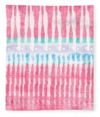 Pink And Blue Tie Dye Fleece Blanket