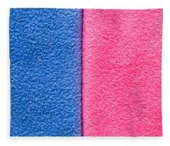 Pink And Blue Fleece Blanket