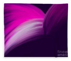 Pink And Purple Curves Fleece Blanket