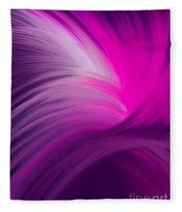 Pink And Purple Swirls Fleece Blanket