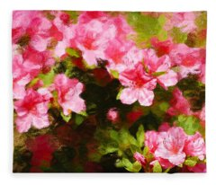 Pink Azealas Fleece Blanket