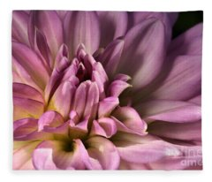 Pink Dahlia's Dream Fleece Blanket