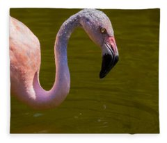 Pink Flamingo Fleece Blanket