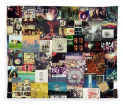 Pink Floyd Collage I Fleece Blanket