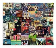 Pink Floyd Collage II Fleece Blanket