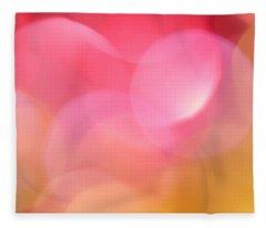 Pink Moon Fleece Blanket