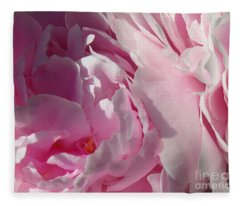 Pink Peonies Fleece Blanket