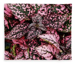 Pink - Plant - Petals Fleece Blanket