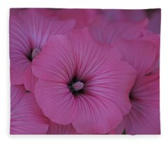 Pink Petunia Fleece Blanket