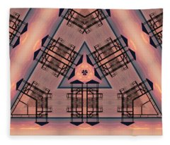 Pink Pier Kaleidoscope One Fleece Blanket