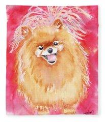 Pink Pom Fleece Blanket