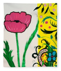 Pink Poppy And Designs Fleece Blanket