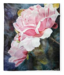 Pink Rose Caroline Fleece Blanket