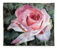 Pink Rose Greg Fleece Blanket
