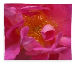 Pink Rose Series 111 Fleece Blanket
