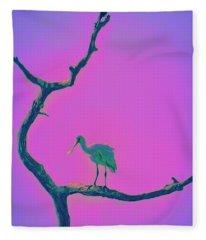 Pink Spoonbill Fleece Blanket