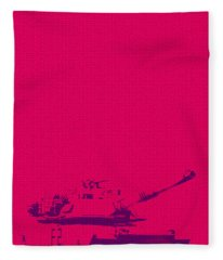 Pink Tank Fleece Blanket