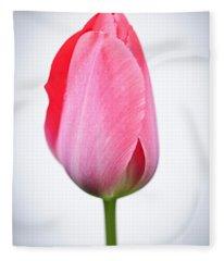 Pink Tulip Fleece Blanket