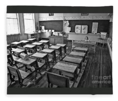 Pioneer Classroom Black And White Fleece Blanket