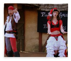Pirate Shantyman And Bonnie Lass Fleece Blanket