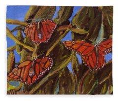 Pismo Monarchs Fleece Blanket