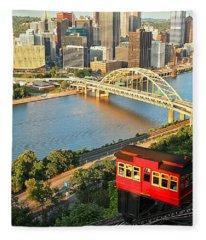 Pittsburgh Duquesne Incline Fleece Blanket