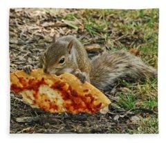 Pizza For  Lunch Fleece Blanket