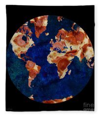 Pizza World Fleece Blanket