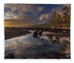 Place Of Refuge Sunset Reflection Fleece Blanket