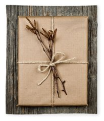 Plain Gift With Natural Decorations Fleece Blanket