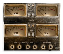 Playback Recording Vu Meters Grunge Fleece Blanket