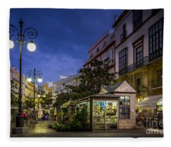 Plaza De Las Flores Cadiz Spain Fleece Blanket