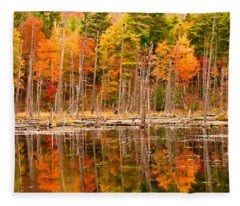 Plethora Of Fall Colors Fleece Blanket