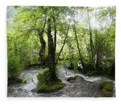 Plitvice Lakes Fleece Blanket