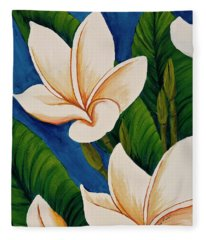 Plumeria  Fleece Blanket
