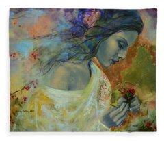 Poem At Twilight Fleece Blanket