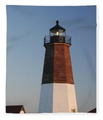 Point Judith Lighthouse Fleece Blanket