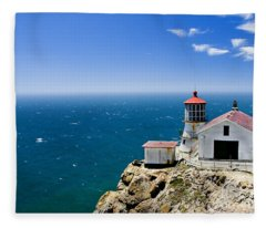 Point Reyes Lighthouse California Fleece Blanket