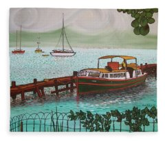 Pointe-a-pitre Martinique Across From Fort Du France Fleece Blanket