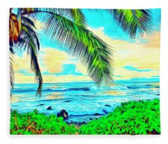 Poipu Sunrise Fleece Blanket