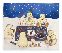 Polar Bear Picnic Fleece Blanket