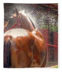 Polo Pony Shower Hdr 21061 Fleece Blanket