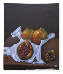 Pomegranates Fleece Blanket