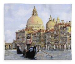 Pomeriggio A Venezia Fleece Blanket