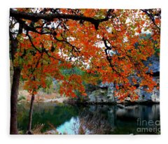 Fall At Lost Maples State Natural Area Fleece Blanket